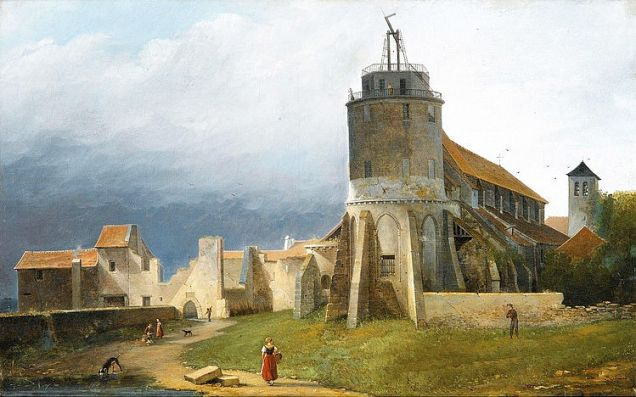 eglise-saint-pierre-de-montmartre_and_ruins_of_the_abbey_1820