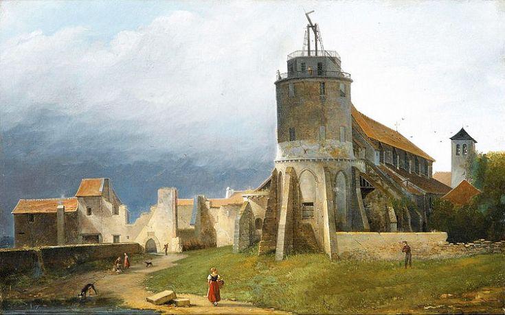 eglise-saint-pierre-de-montmartre_and_ruins_of_the_abbey_1820