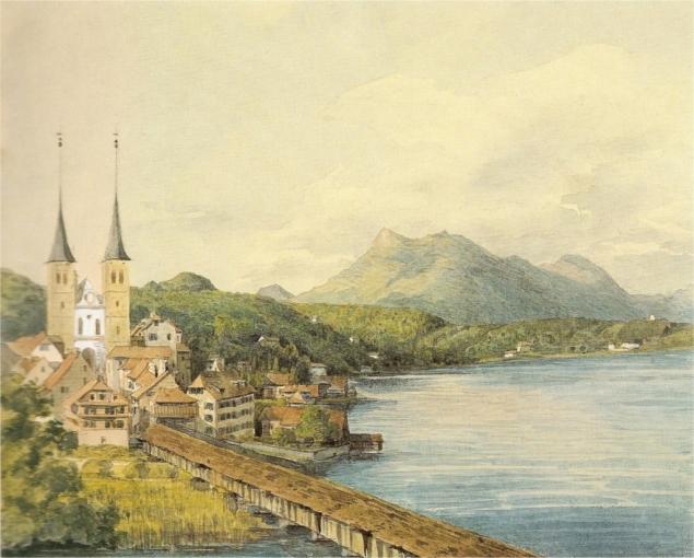 Ansicht_von_Luzern_-_Aquarell_Mendelsohn_1847
